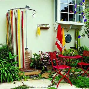 colorful outdoor shower