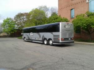 Our coach arrives!