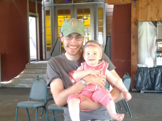 TMS Architect Jason Bailey and his daughter Madeleine enjoy the festivities.