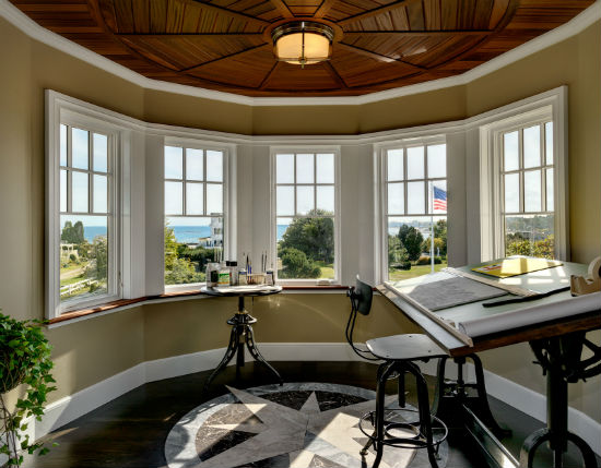 The homeowner's art studio above the turret with a view to the ocean beyond. Source: Rob Karisis Photography