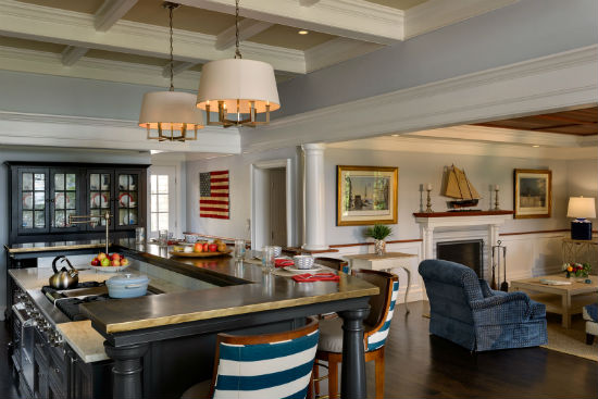 The homeowners wanted an open kitchen for extended family gatherings. Source: Rob Karosis Photography