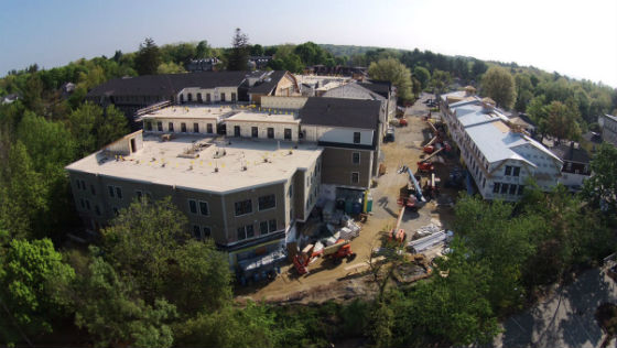 A view of UNH's 525 bed student housing units form the air. Source: ProCon