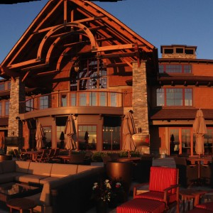 A dramatic view of the clubhouse at sunset. Source: TMS Architects