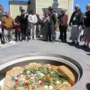 Opening ceremonies of the Portsmouth African Burying Ground Memorial Park in May 2015. Source: J. Dennis Robinson