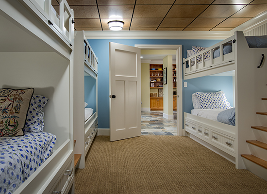 Plenty of room for guests in this bunkroom! Source: Karosis Photography