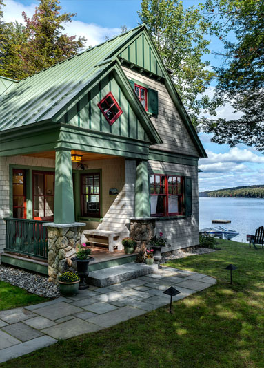 Lakeside maine cottage tms architects for Best lake house plans